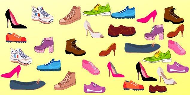5. Hangi ayakkabının çifti yoktur?