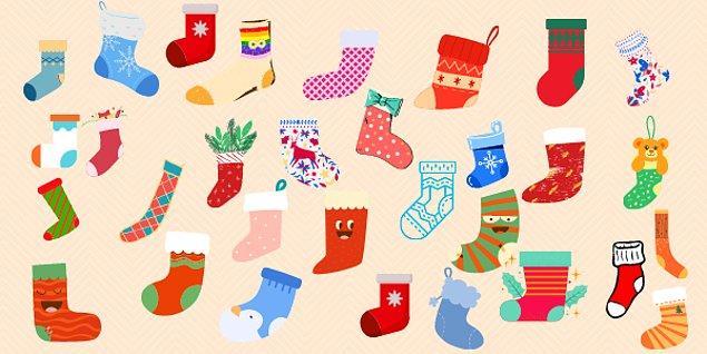 9. Hangi çorabın çifti vardır?