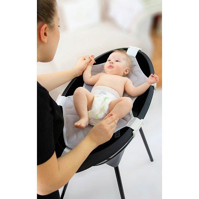3. Babyjem Elegent küvet seti de banyosunda siyah sevenler ve doğuştan cool bebekler için...