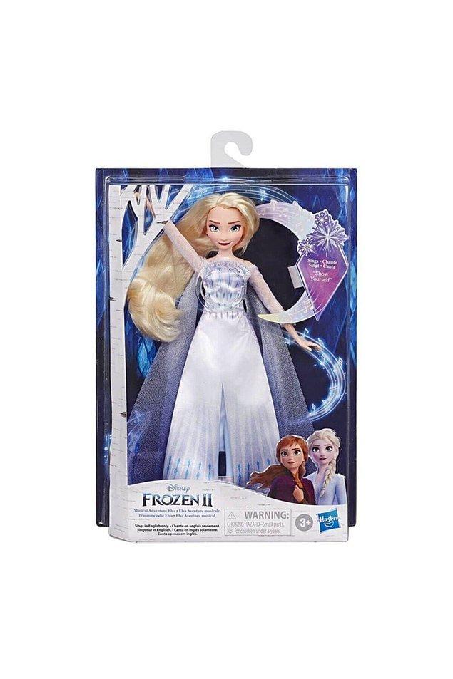 9. Frozen 2 filminden sonra çıkan bu şarkı söyleyen Elsa oyuncağı da muhteşem...