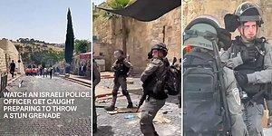 Kameralar Kapalıyken Ne Olduğunu Biliyoruz: İsrailli Polis, Kamerayı Fark Edince Gaz Bombası Atmaktan Vazgeçti