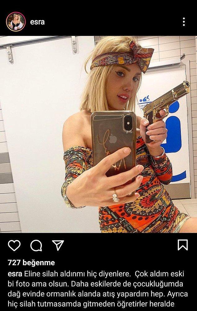 """""""Silah mı tuttun daha önce?"""" diyenlere ise bu fotoğrafla kapak gibi cevap verdi!"""