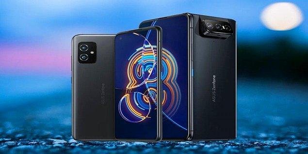 ZenFone 8 modeli, 128/256 GB depolama alanı ve  6/8/16 GB ram seçeneği sunarken, Flip modelinde 256 GB depolama ve 8 GB ram bulunuyor.