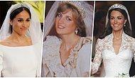 İngiltere Kraliyet Ailesi Gelinleri Tarafından Şimdiye Kadar Giyilmiş Tüm Gelinlikler 👰
