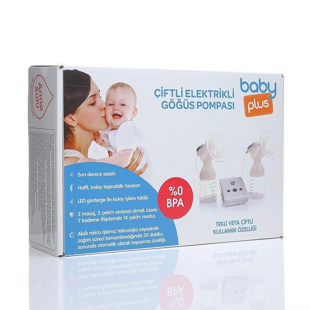 8. Baby Plus çiftli elektrikli göğüs pompası tam bir fiyat performans ürünü.