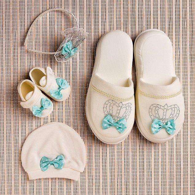 17. Son olarak güzel annelerimiz ve bebeklerimiz için bir lohusa seti gelsin...