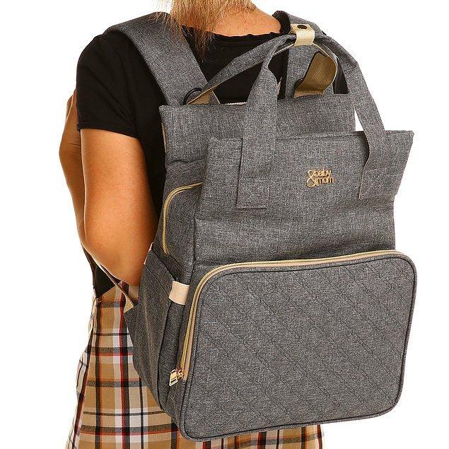 13. Baby&Mom bebek çantası ile bebek bezi, biberon, ıslak mendil, pudra, kıyafetler gibi bütün ihtiyaçlarınızı rahatlıkla taşıyabilirsiniz.