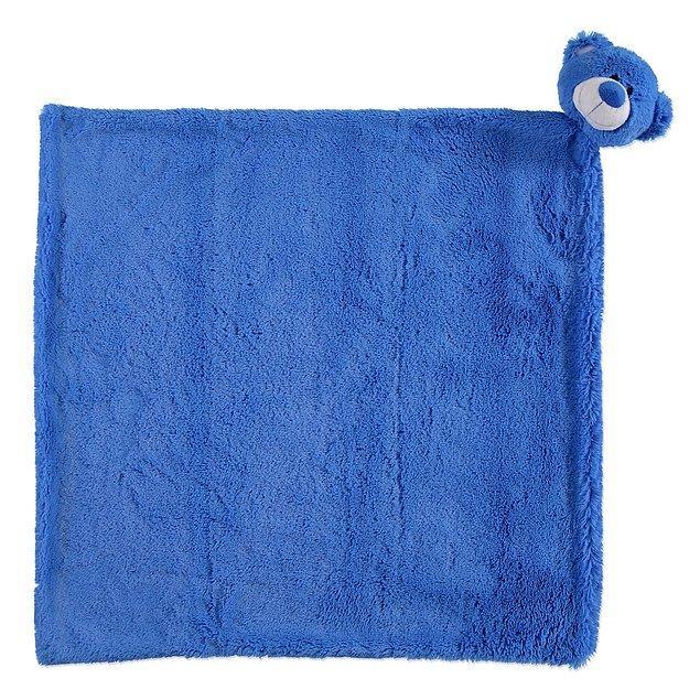 5. Ayıcık detaylı bu peluş battaniye yumuş yumuş, çok güzel!