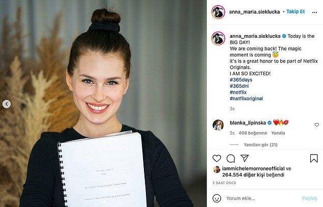 Bu arada kadın başrol oyuncu Anna Maria da böyle duyurdu!