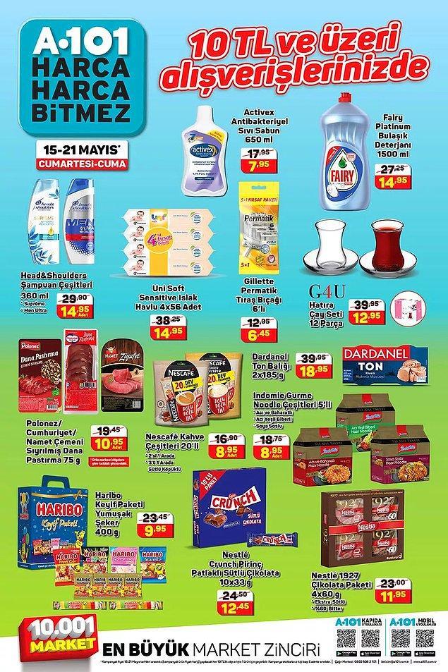 Bu hafta 10 TL ve üzeri alışverişlerinizde indirimli olacak birçok ürün var.