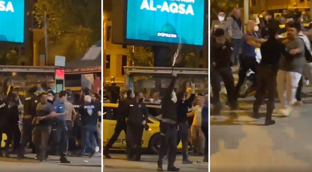 Şampiyonluk Kutlaması Yapan Beşiktaş Taraftarı ile Bekçiler Birbirine Girdi, Bekçiler Havaya Ateş Açtı