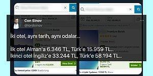 Aynı Tatil Paketinin Yabancılara Türklerden Daha Ucuza Satılması Sosyal Medyanın Gündeminde