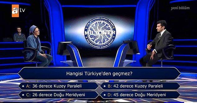 250 Bin TL'lik soruya cevap veremeyen Betül Yoğurtçu, yarışmadan 125 Bin TL'lik çeki alarak ayrıldı.