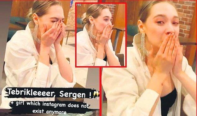 Kutlamalar devam ederken 22 yaşındaki Ukraynalı model Lisaveti Karibskaya'nın mutluluk gözyaşları döktüğü bu kareler Sergen Yalçın ile aşk yaşadığını ortaya çıkardı.