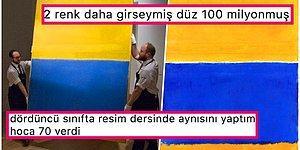 Rothko'nun 'Sarı ve Mavi' Adlı Tablosu 46.5 Milyon Dolara Satılınca Goygoycuların Eline Fena Halde Düştü!