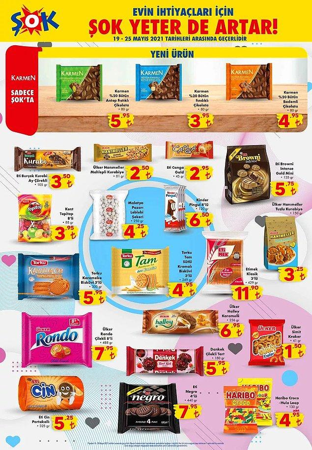 KARMEN çikolatalar sadece ŞOK'ta satışta olacak.