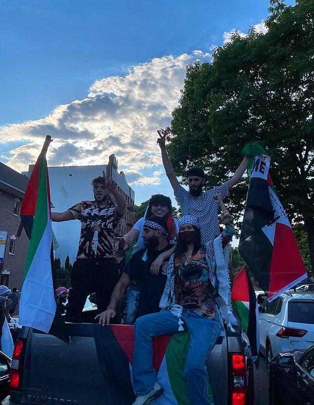 8. Bella Hadid, Amerika'daki Filistin protestolarına katıldığı görüntüleri sosyal medya hesabında paylaştı!