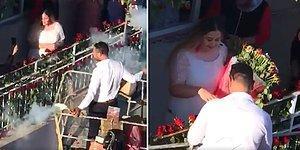 Sevdiği Kadının Balkonuna Vinçle Çıkan Adamdan Gösterişli Evlilik Teklifi Organizasyonu