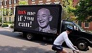 ABD'de İlginç Anlar: Milyonerler Jeff Bezos'u Evinin Önünde Protesto Etti