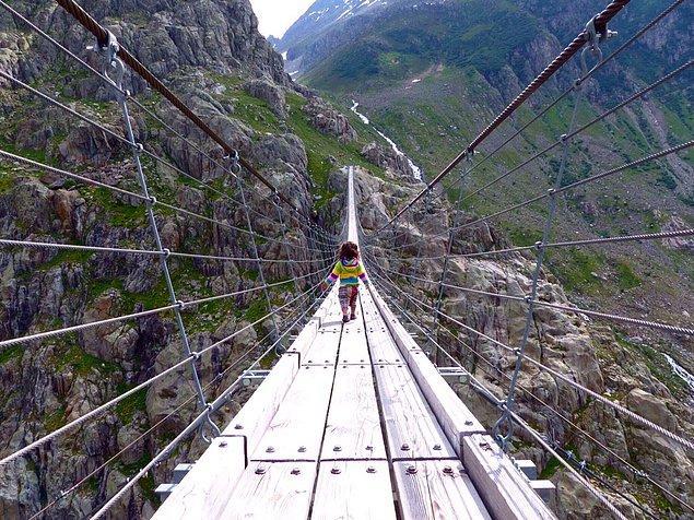 4. Trift Köprüsü - Gadmen, İsviçre