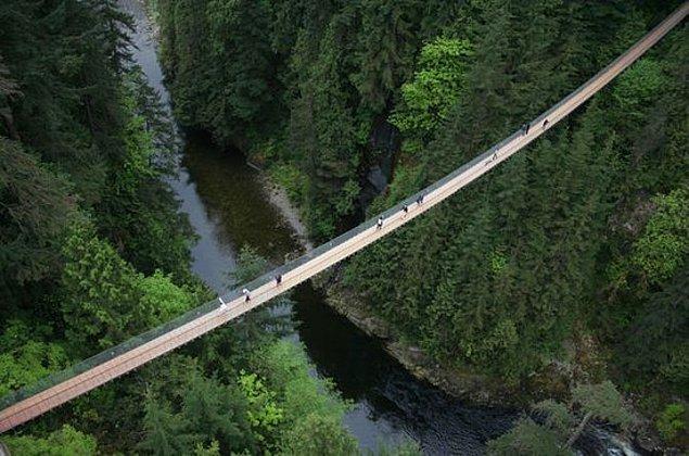 8. Capilano Asma Köprüsü - Kuzey Vancouver, Kanada
