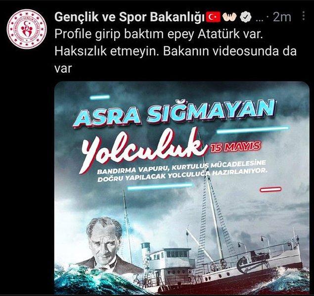 Ancak Atatürk'ü Anma gününde Atatürk'e yeteri kadar yer verilmemesi tepki çekti.
