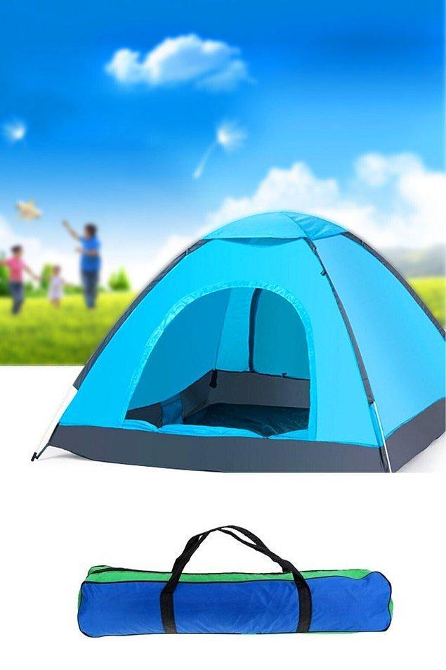 10. Gelelim çadıra... En önemli şey çadır. Kurulumu kolay olsun ve geniş olsun diyenler için 6 kişilik dayanıklı bir çadır.