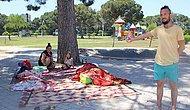 Tartıştığı Annesi ve Abisi Uzaklaştırma Kararı Alınca Ailesiyle Parka Yerleşti