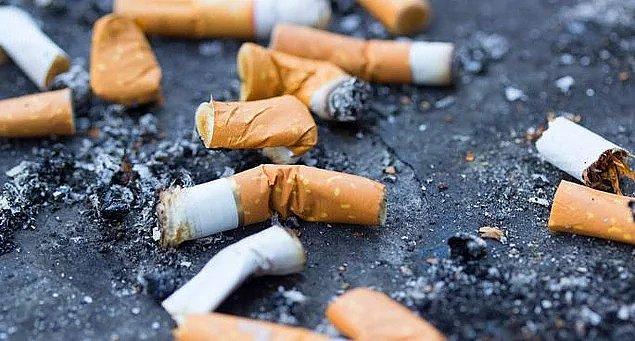 10. Biten sigaranın yere atılması: