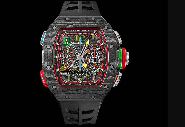 Mesut Bey'in saati RM 65- 01 Automatic Split Seconds Chronograph. Fiyatı ise 8 milyon 250 bin TL.
