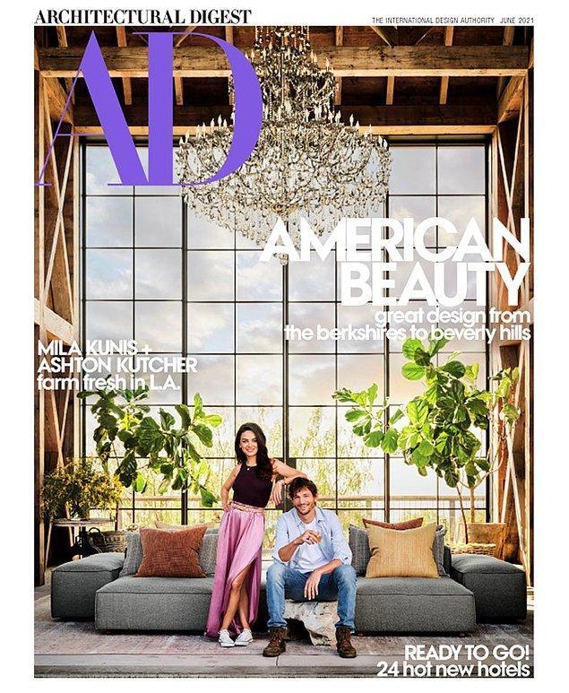 Beverly Hills'de altı dönümlük araziyi kaplayan mülk, Architectural Digest'in Haziran sayısının kapağında yer aldı. Bu arazide çiftimizin yaşadığı evin dışında bir misafirhane, bir ahır ve barbekü alanı bulunuyor.