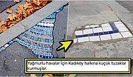 Fransa'daki Sokak Çukurları İçin Yapılan Mozaik Çalışmasını Örnek Alan Kadıköy Belediyesi Asfalta Şükrettirdi