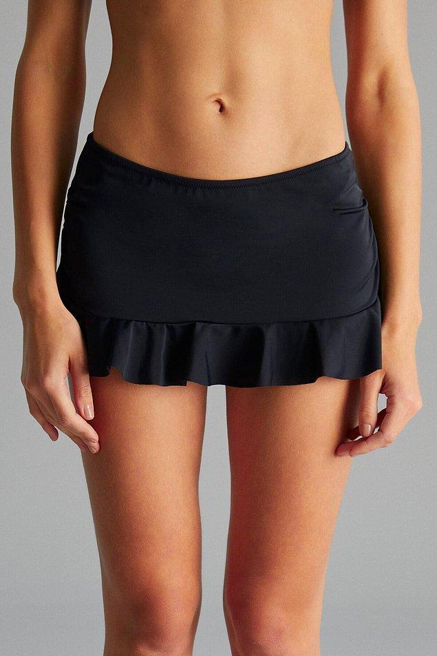 12. Etek bikini altları kalçayı çok güzel kapatıyor.