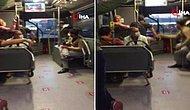 Metrobüste 'Bacak Bacak Üzerine Attın' Kavgası: Birbirlerinin Yüzüne Tükürdüler!