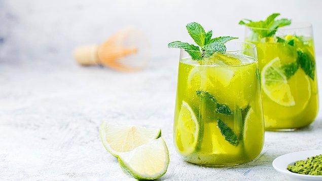 2. Lezzetine hayran kalacaksınız: Yeşil çaylı limonata