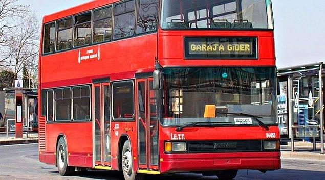 10. Çift katlı otobüsler