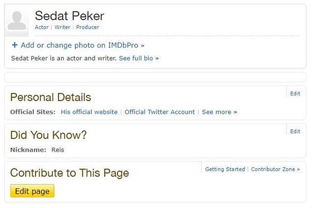Ancak Peker'in kendi kişisel bilgilerinin yer aldığı sayfa ise hala yayında.