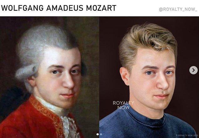 Dünyaca ünlü besteci Wolfgang Amadeus Mozart...