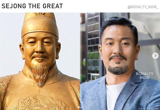 ve Kore Joseon Hanedanlığı'nın dördüncü kralı Büyük Sejong.