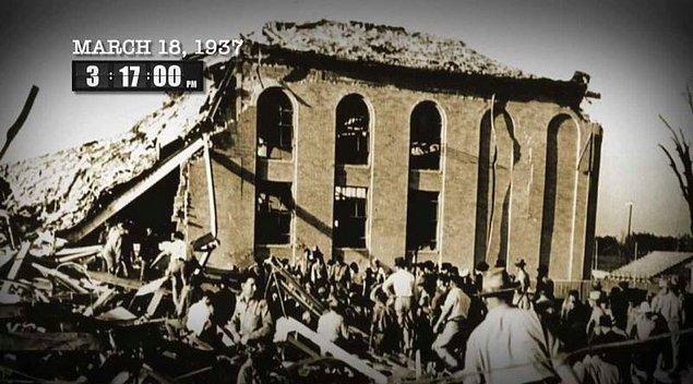 3. 18 Mart 1937'de New London Texas'taki Consolidated School'da bodrum katında meydana gelen doğal gaz patlaması 56 km öteden hissedilmiştir.