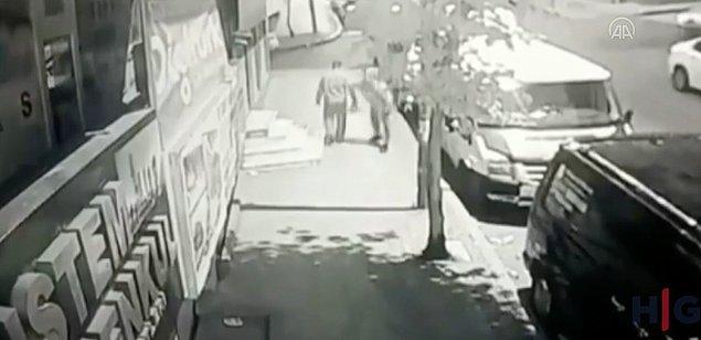 Olay güvenlik kamerasına takıldı