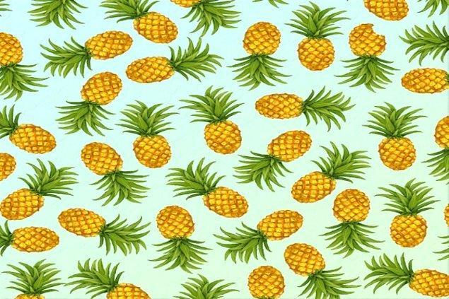 10. Son olarak farklı olan ananası bulabildin mi?