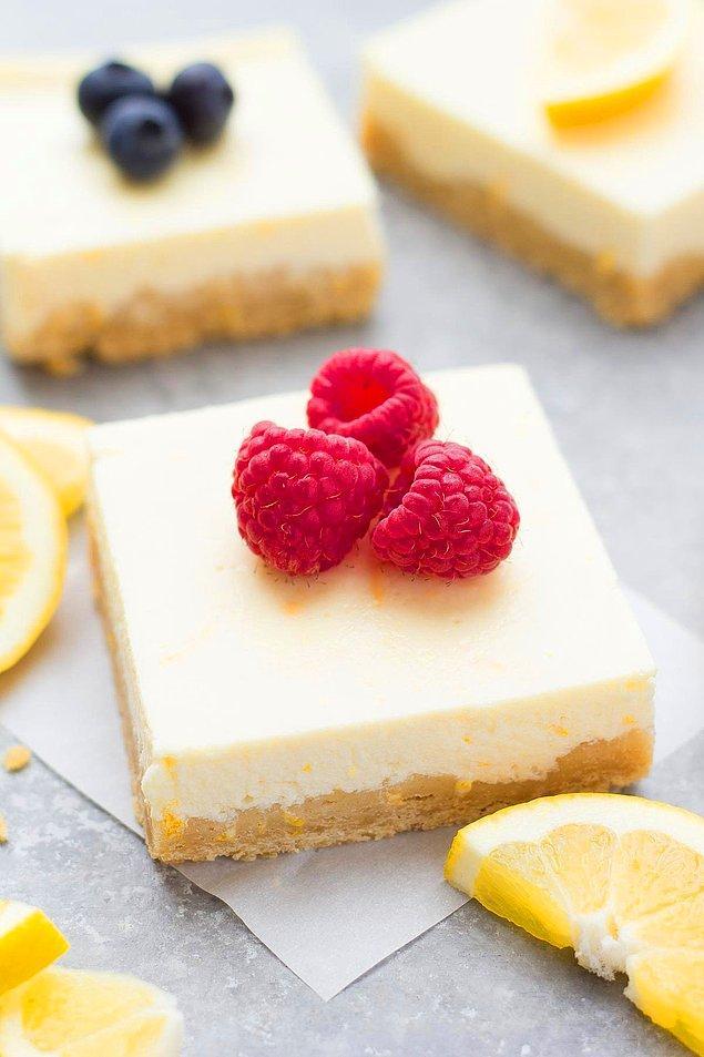 8. Yoğurtlu Limonlu Cheesecake Tarifi: