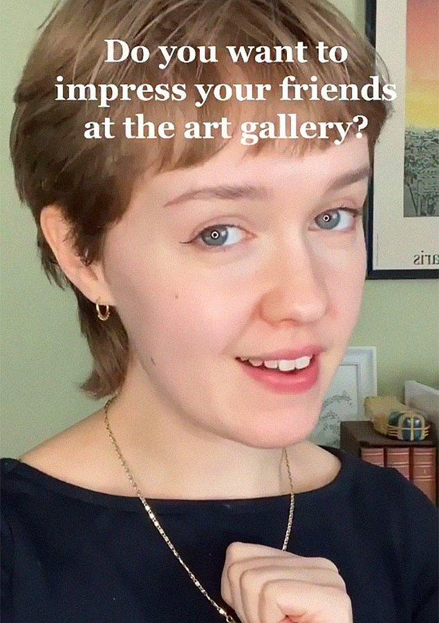 Sizleri Avusturalyalı bir sanat tarihçisi olan Mary McGillivray ile tanıştıralım. Kendisi TikTok'ta çektiği videolarla birçok insanı sanat konusunda bilgilendiriyor.