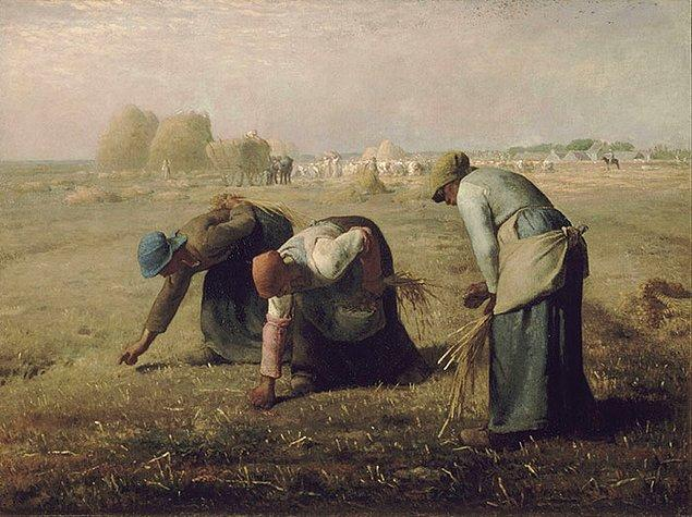 3. Tabloda üzgün köylüler varsa bu 19. yüzyıl realizmidir.