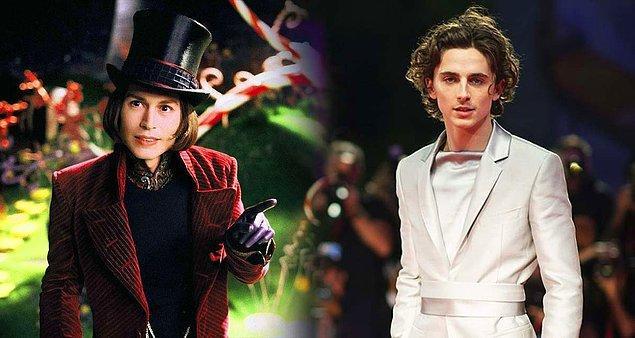 5. Timothee Chalamet, Willy Wonka'yı canlandıran yeni isim olacak.
