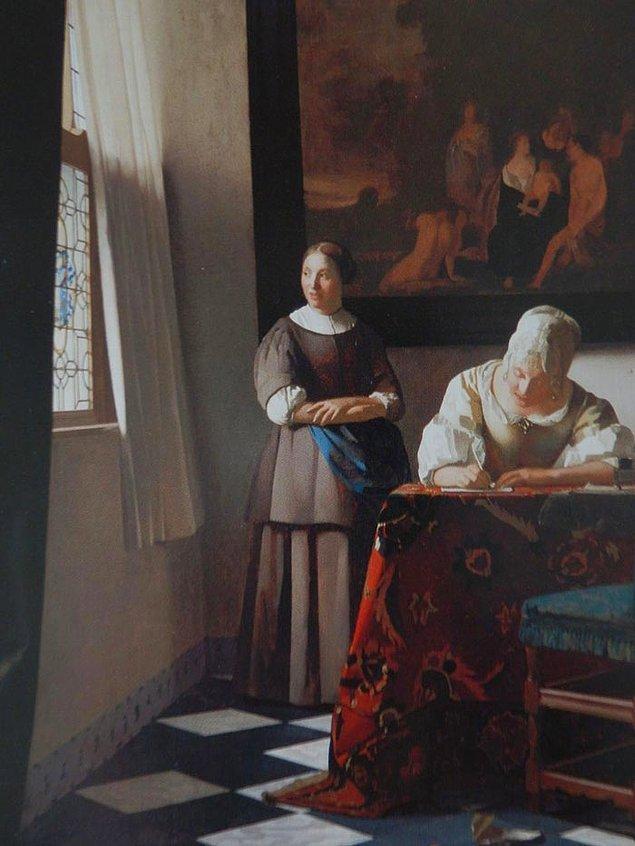 11. Eğer odada güzel mobilyalar, bir pencere ve günlük işlerini halleden bir kadın varsa Bu Vermeer'dir.
