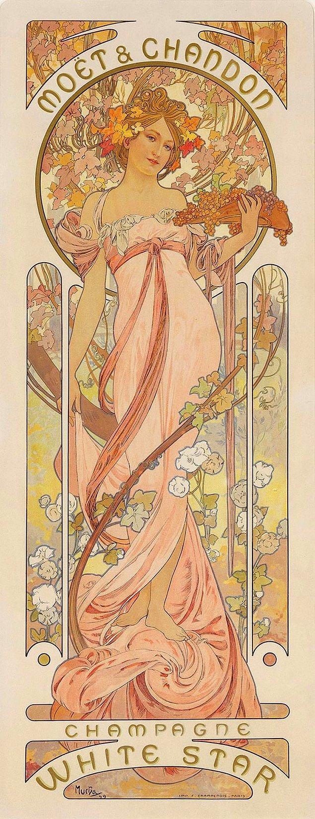 19. Eğer duvara asılan bir poster gibi bir kadın varsa bu Art Nouveau'dur.