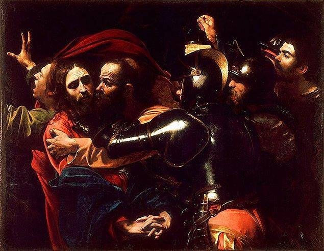 23. Eğer resimde bulunan herkes kaotik ve karanlık bir odada yalnızca tek bir ışığın altında duruyorsa bu Caravaggio'dur.