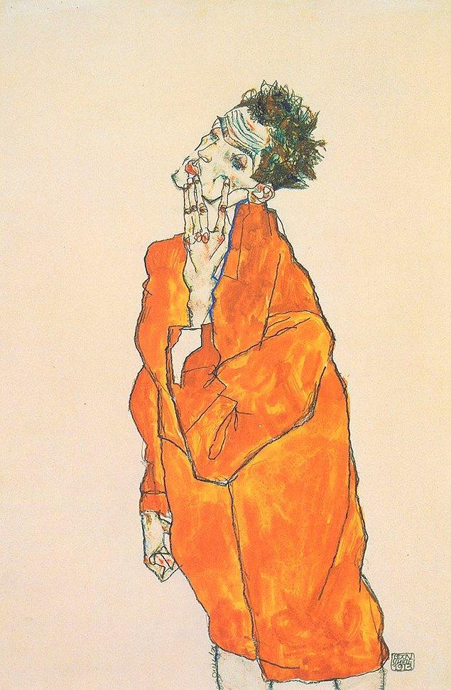 31. Nikotin bağımlılığını tabloya bakınca hissedebiliyorsanız bu Egon Schiele'dir.